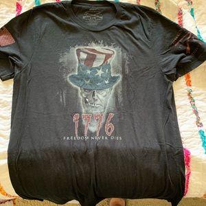 Uncle Sam skull T-shirt
